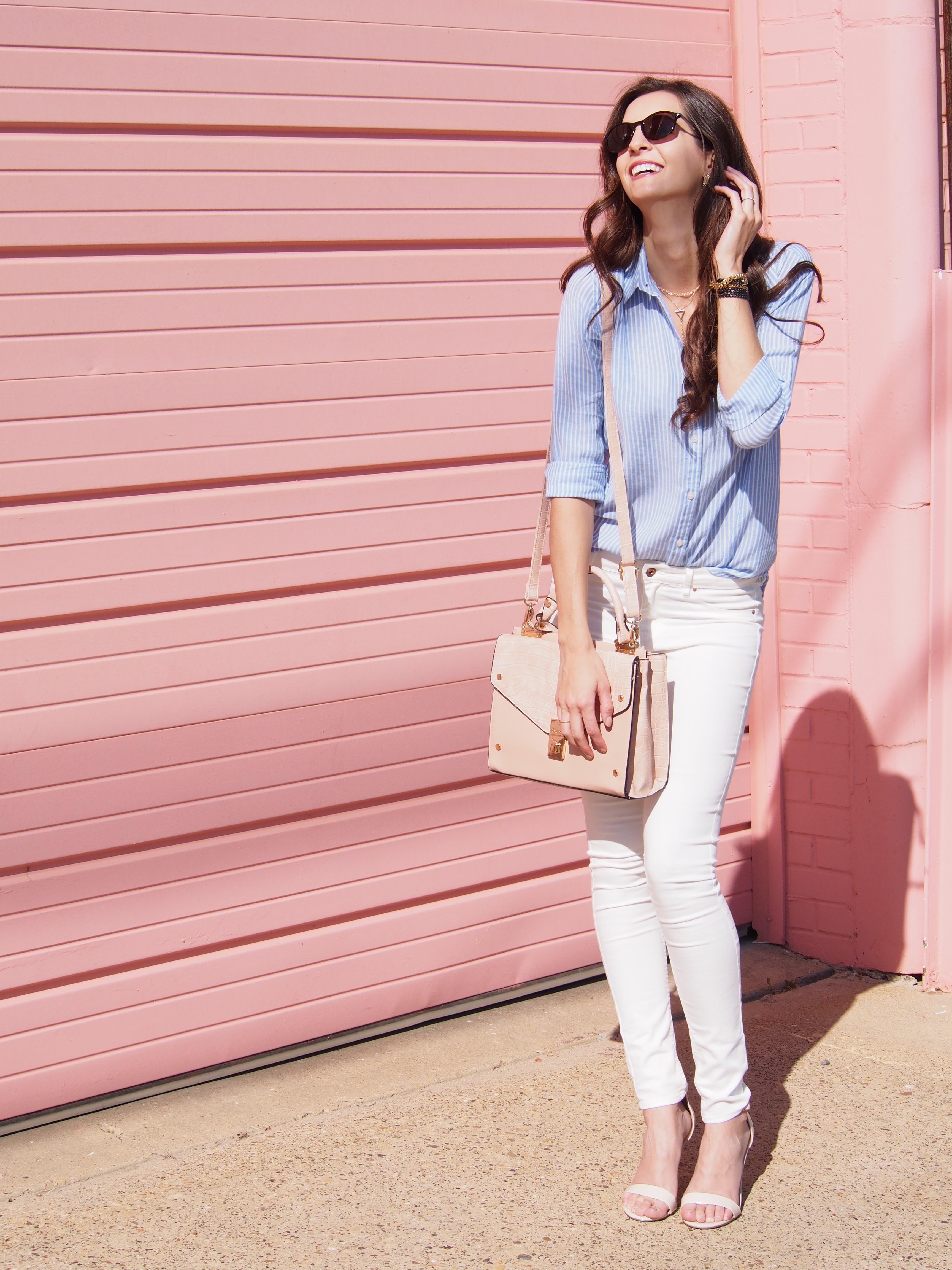 blue button up shirt myviewinheels