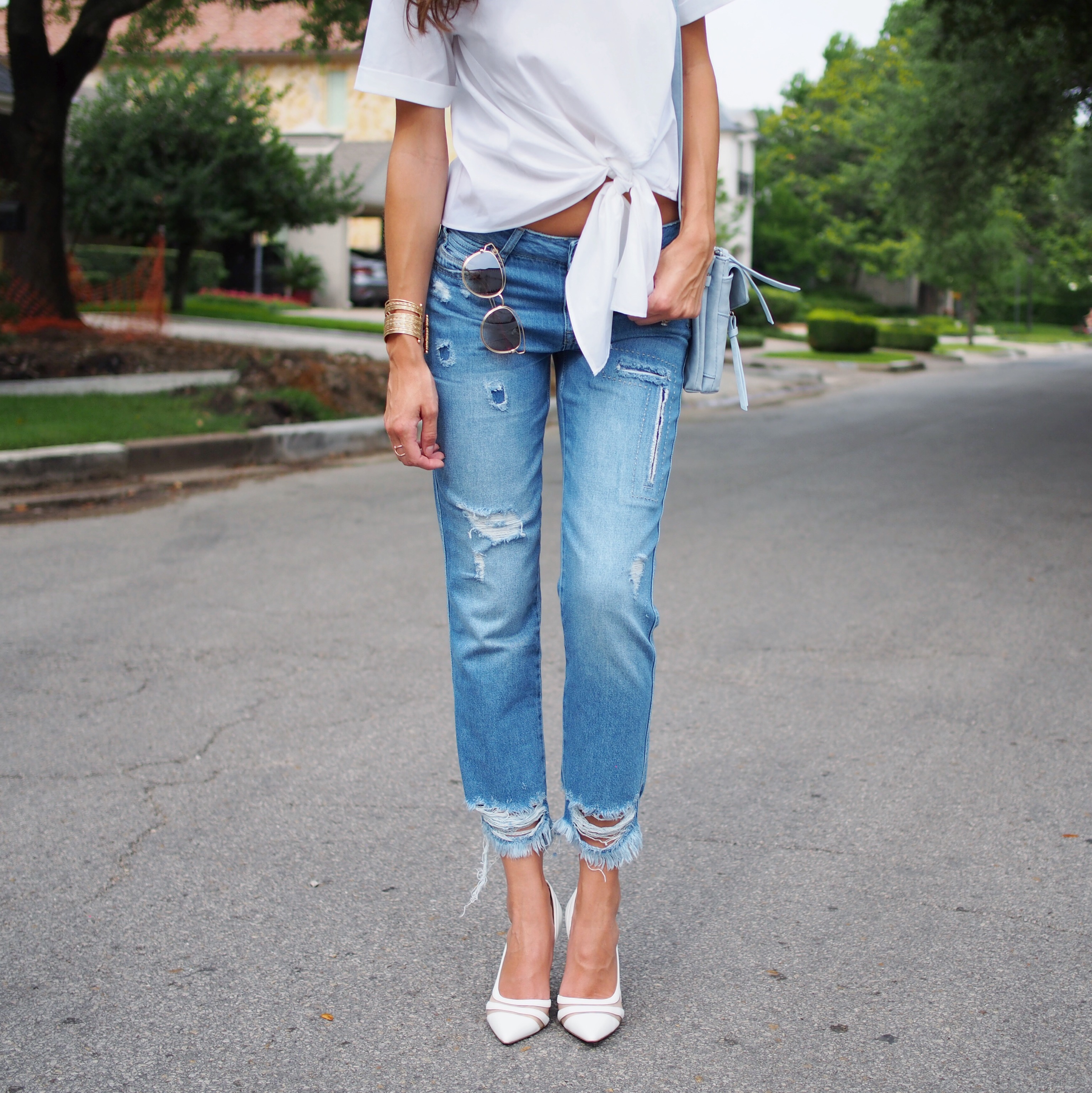 white zara top and jeans12