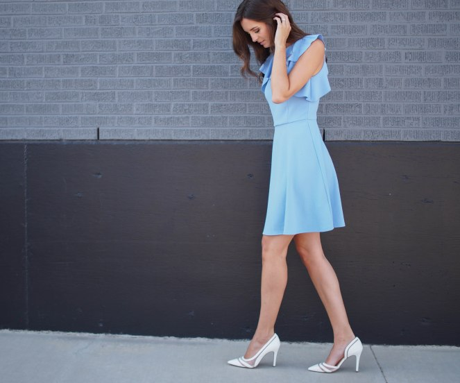 ASOS BLUE SKATER DRESS