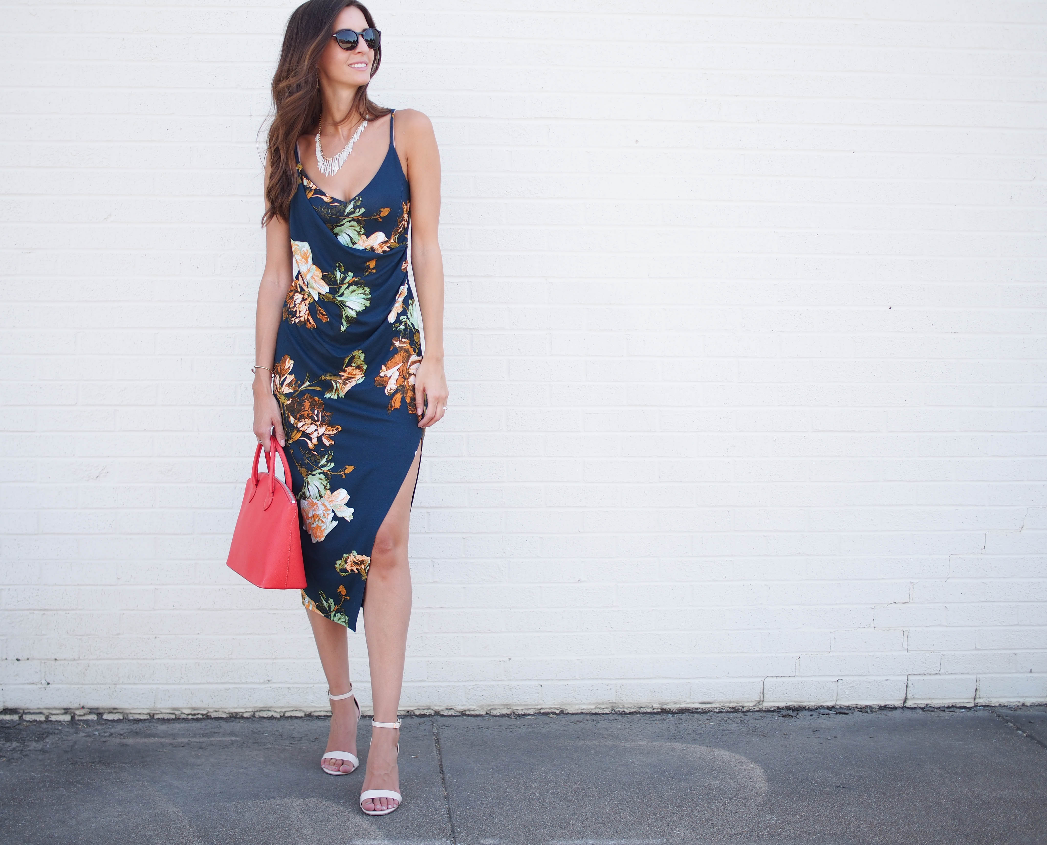 asos strappy flower dress