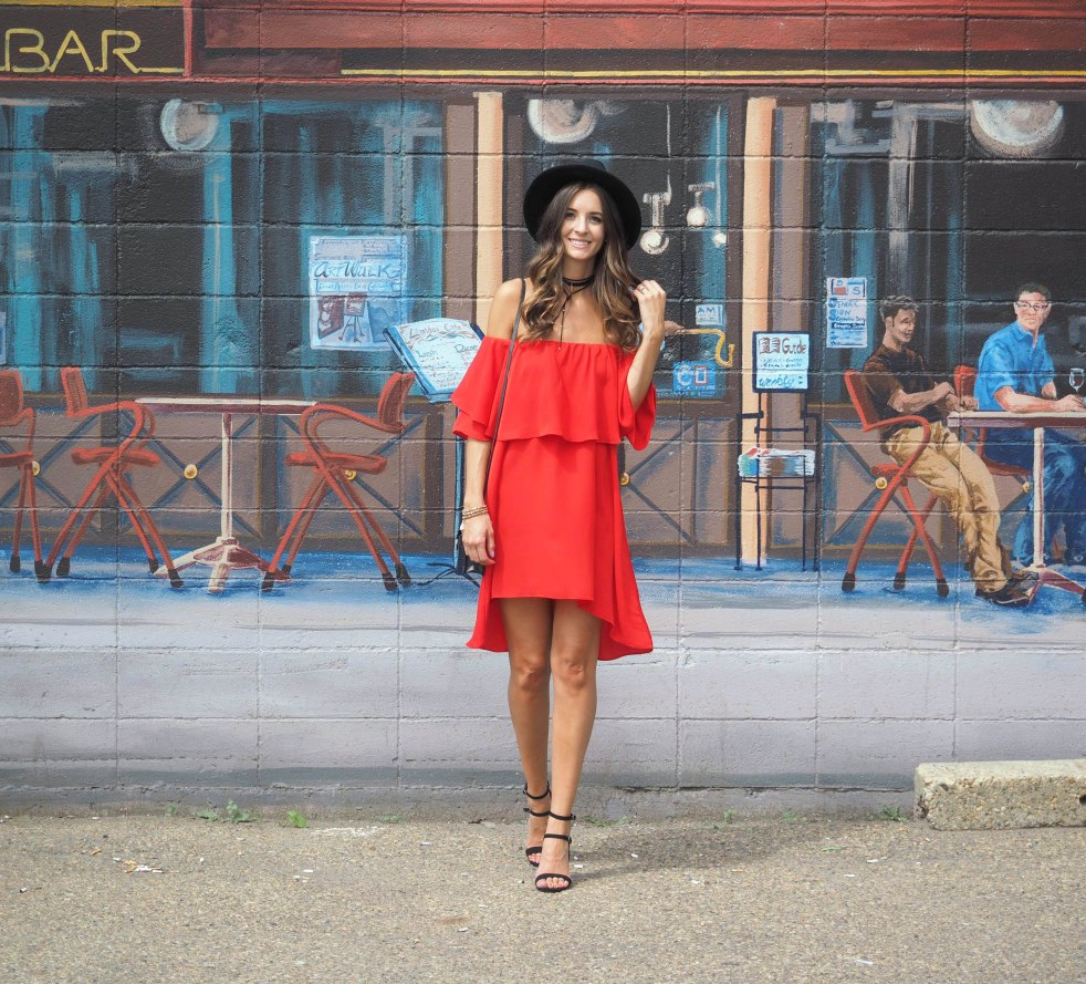 SheIn Red dress